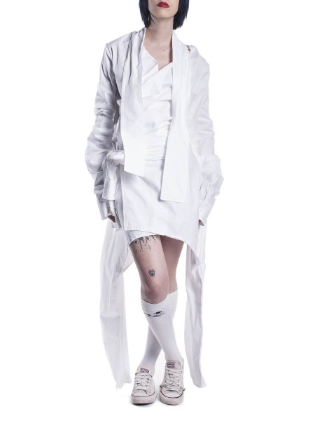 Deconstructed White Cotton Shirt