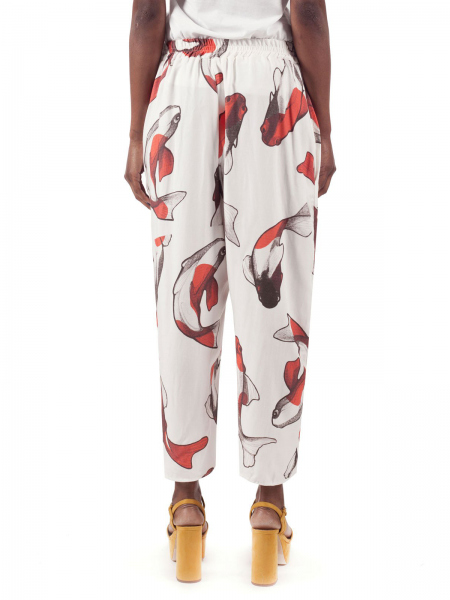 Digitally Printed Mid Waist Trousers