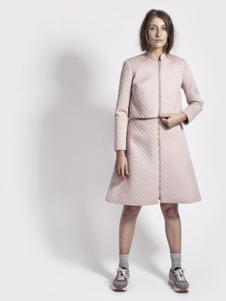 Dust Pink Neoprene Jacket