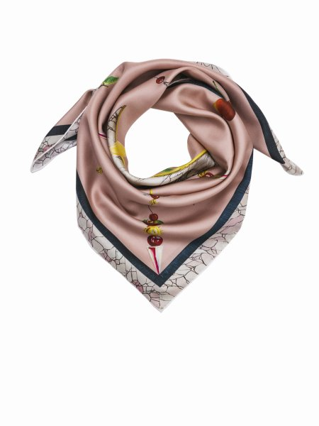 Dusty Pink Satin Silk Scarf