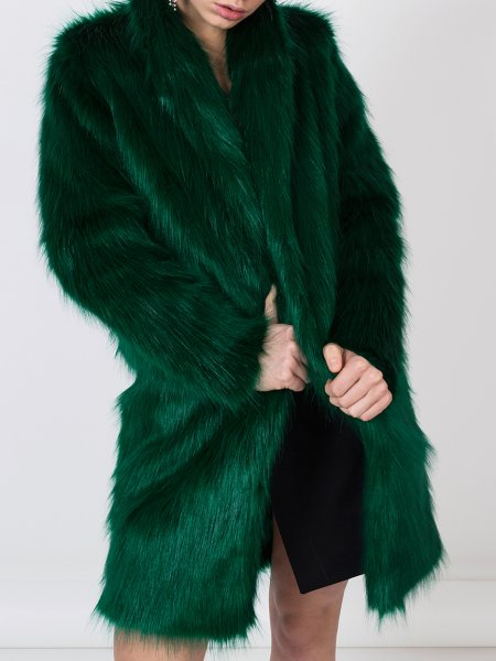 Emerald Green Faux Fur