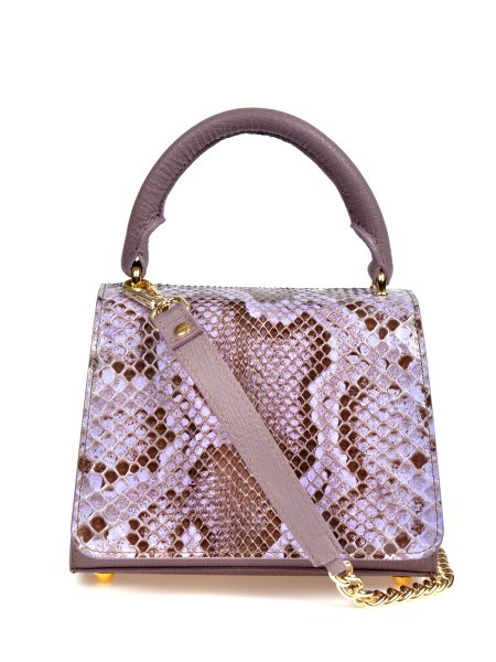 Glossed Crocodile Pink Handcrafted Bag