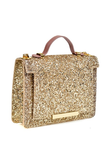 Gold Glittered Handbag