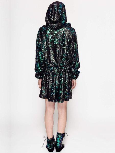 Green Sequins Dress