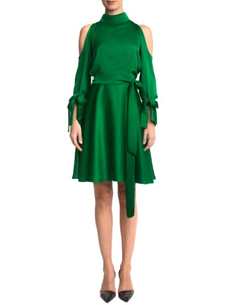 Greenery Silk Dress