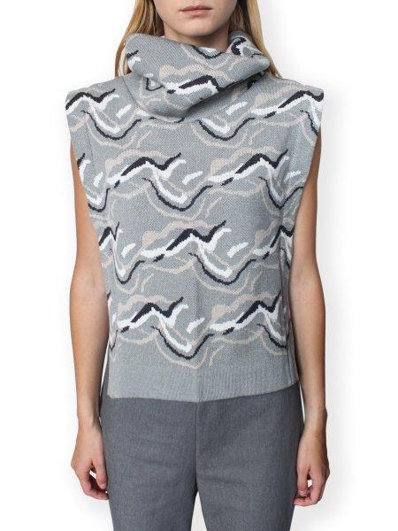 Grey Jacquard Vest