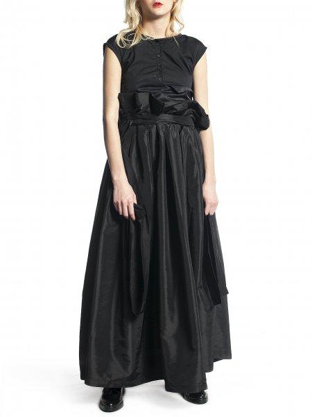 High Waisted Long Black Skirt