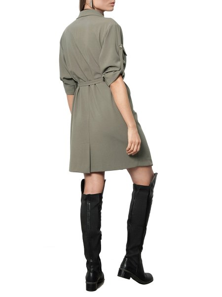 Khaki Blazer Dress