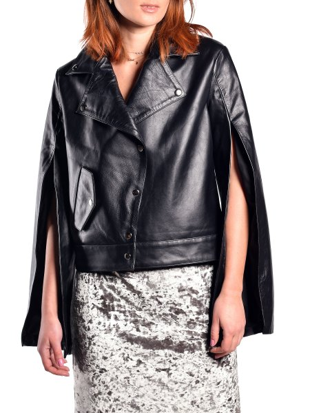 Leather Jacket With Open Sleeves