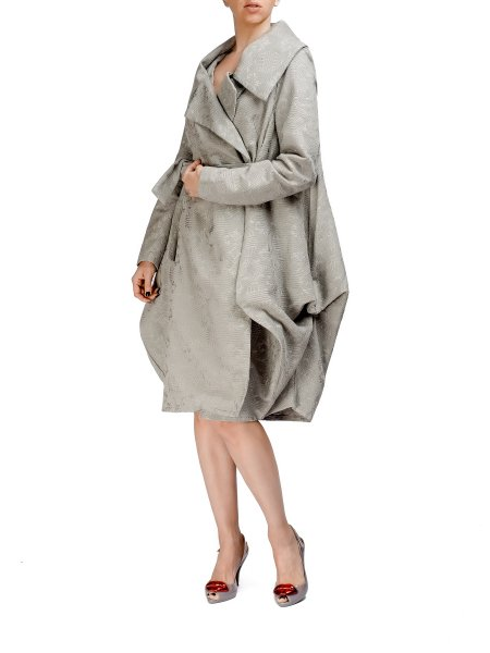 Light Gray Textured Coat