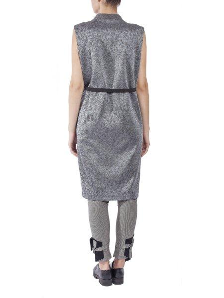 Long Silver Crossie Vest