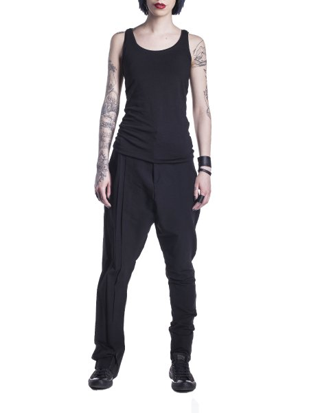 Loose Fit Cotton Trousers
