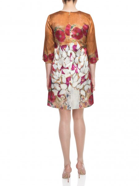 Loose Fit Printed Silk Dress