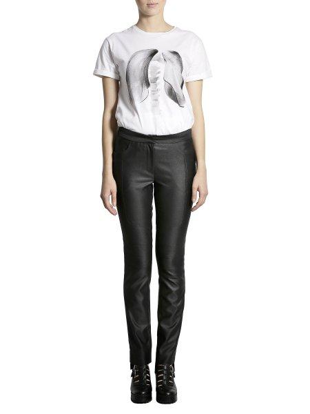 Metallic Black Cotton Trousers