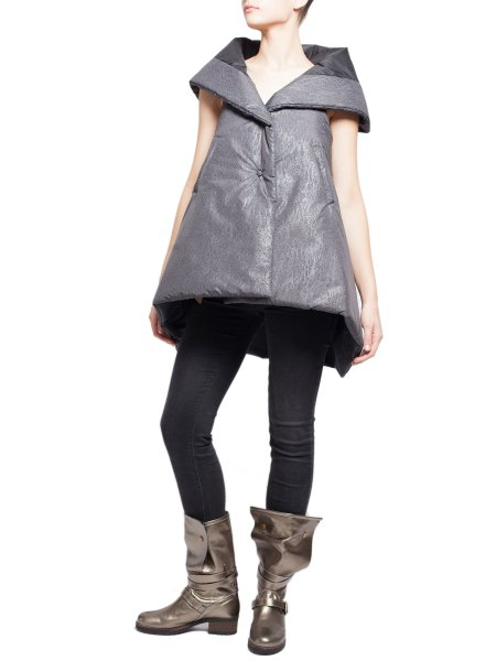 Metallic Grey Vest