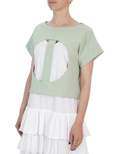 Mint Top With Front Cuts