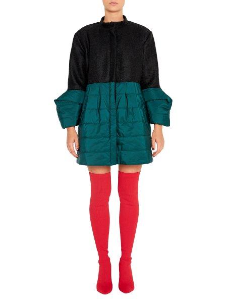 Mixed Fabric Woolen Jacket