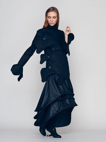 Multilayered Maxi Skirt
