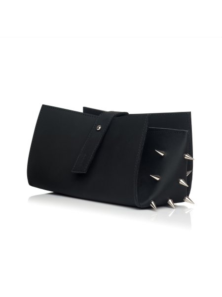Origami Recycled Leather Clutch With Studs