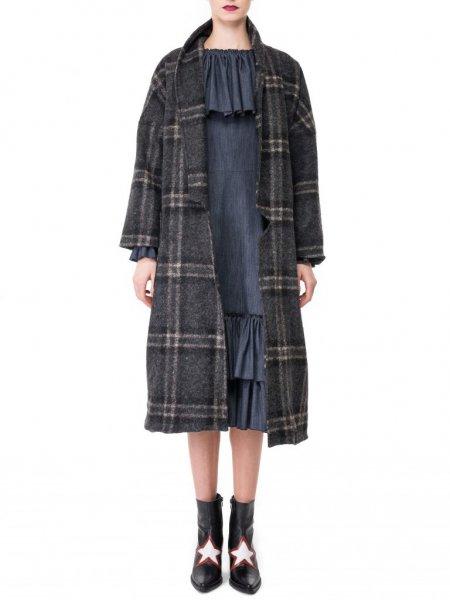 Oversized Coat in Wool Blend