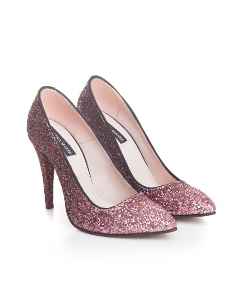 Pink Glitter Stiletto Shoes