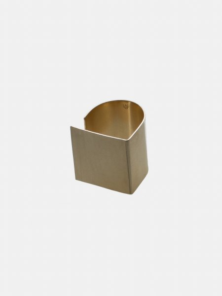 Plattitude Gold Ring Square
