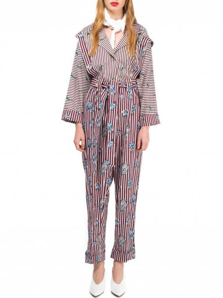 Printed Jumpsuit with Belt