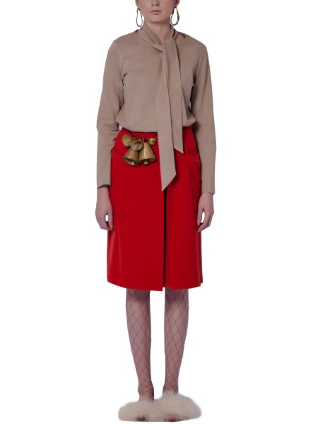 Red Woolen Skirt