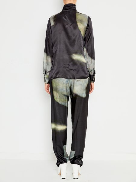 Silk Satin Shirt With Bow
