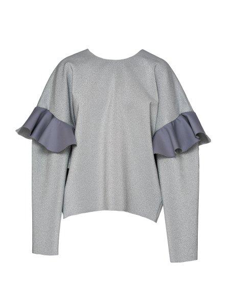 Silver Open Back Sweatshirt