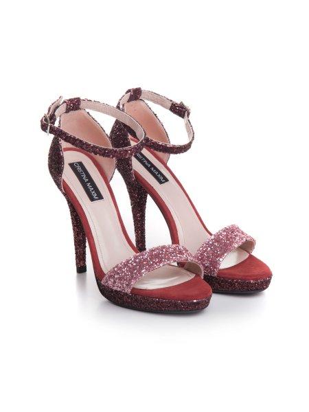 Soft Pink Glitter Sandals