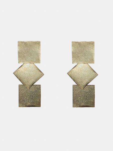 Triplattitude Gold Earrings