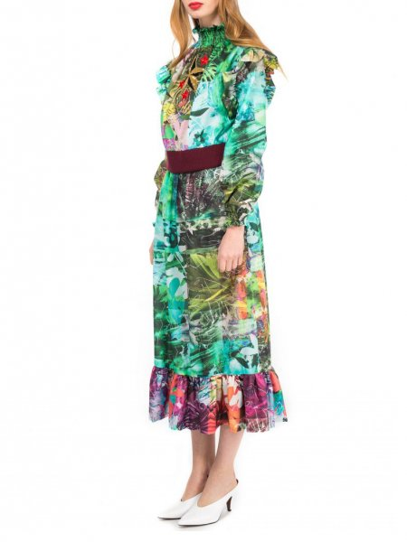 Tropical Print Star Dress