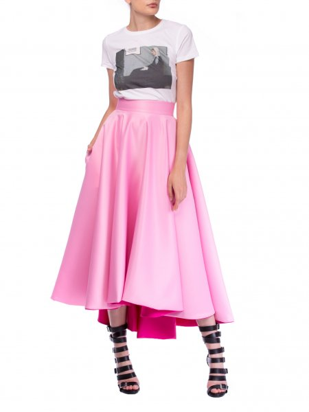 Two Faced Taffeta Skirt
