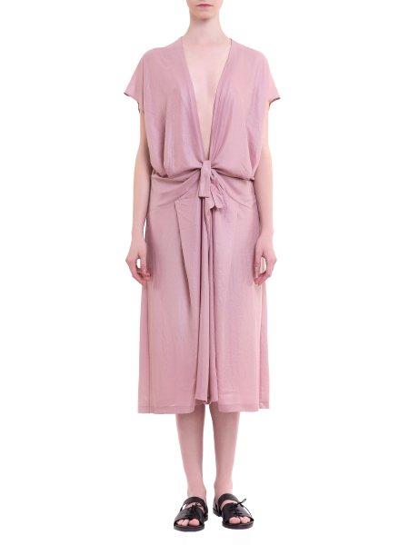 Waist Bow Tie Silk Dress
