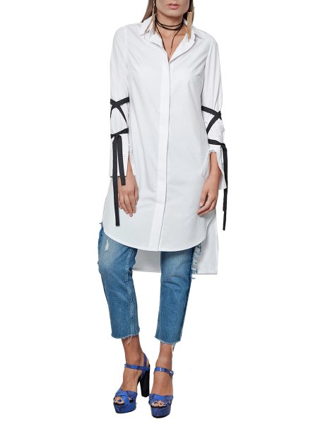 White Cotton Shirt/Dress