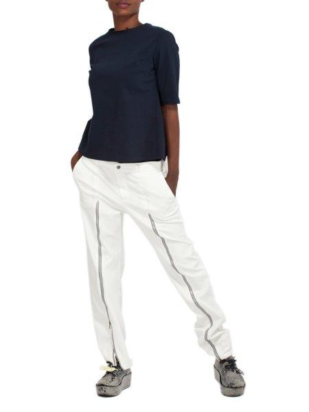 White Cotton Trousers