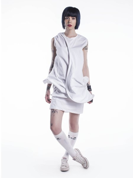 White Deconstructive Dress