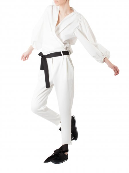 White Neoprene Trousers