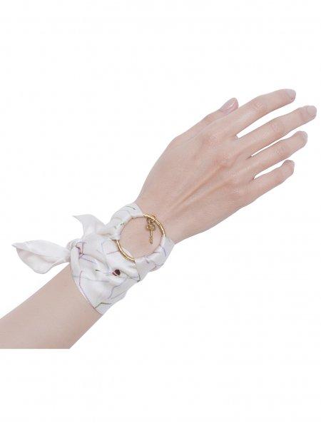 White Pure Silk Bracelet