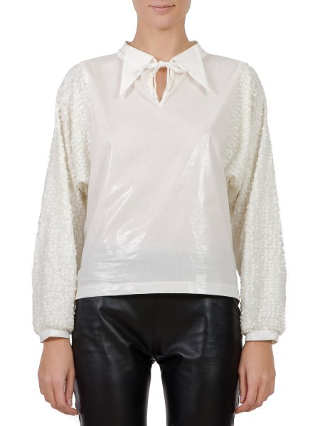 White Sequined Shirt