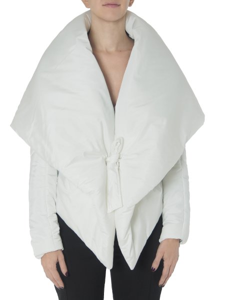 White Slicker Jacket with Dropped Shoulders